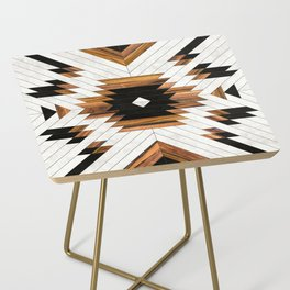 Urban Tribal Pattern No.5 - Aztec - Concrete and Wood Side Table