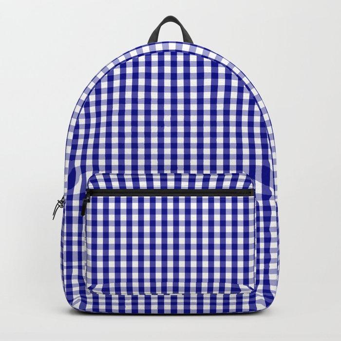 Mini Australian Flag Blue Gingham Check Plaid Backpack by podartist ... 901a52946adca