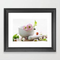 Wild herb kitchen Daisy Framed Art Print