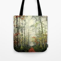 forrest gump Tote Bags featuring Gump by Slight Clutter