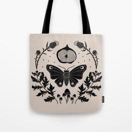 Moth, Mugwort & Mushrooms Tote Bag
