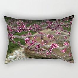 Eastern Redbud Branch Rectangular Pillow