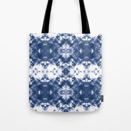 Shibori Tie Dye Indigo Blue Tote Bag