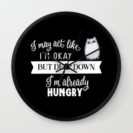 Already Hungry Cute Cat Wall Clock