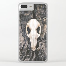 Wild Wood Clear iPhone Case