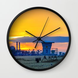 Surf City Power Wall Clock