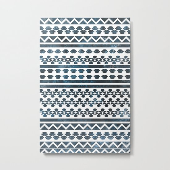 Ethnic pattern with watercolors Metal Print