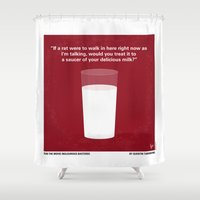 tarantino Shower Curtains featuring No138 My Inglourious Basterds minimal movie poster by Chungkong