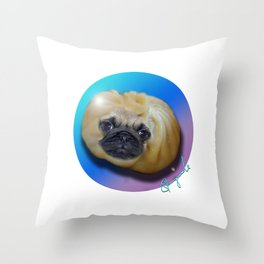 PUG DUMPLING Throw Pillow