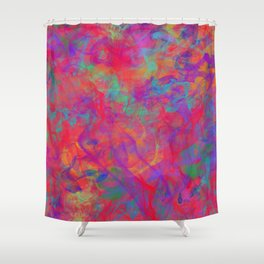 ABSTRACT - COLOR - SMOKE - RED Shower Curtain