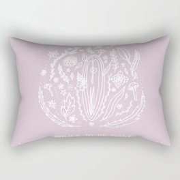 Power to The Pussy (Pink) Rectangular Pillow