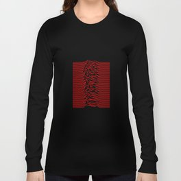 Joy Division - Unknown Pleasures [Red Lines] Long Sleeve T-shirt