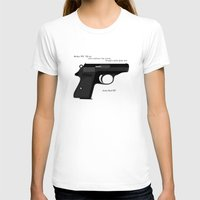 bond T-shirts featuring Bond PPK by AngoldArts