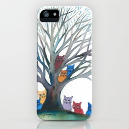 Nashville Whimsical Cats in Tree iPhone Case