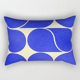 Blue mid-century shapes no8 Rectangular Pillow