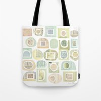 frames Tote Bags featuring Frames by maria carluccio