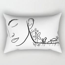 Garden Woman Rectangular Pillow
