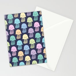 Cute colorful jellyfishes Stationery Cards