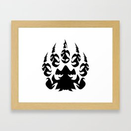 Tribal - Bear Paw Framed Art Print