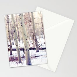 Aspen Trees in Winter Stationery Cards