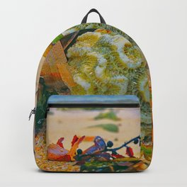 Coral on Beach Backpack