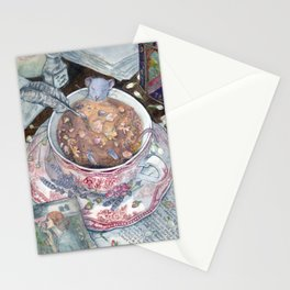 Relaxing cup of tea Stationery Cards
