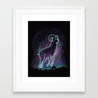 aries Framed Art Prints featuring Aries by dan elijah g. fajardo