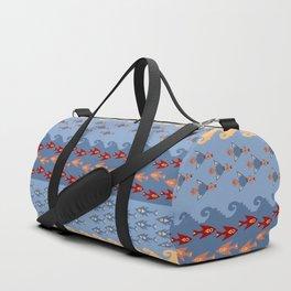 Inca Ethnic Pattern Fish and Birds Duffle Bag