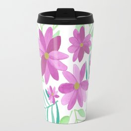 Watercolor Flowers for Emma Travel Mug
