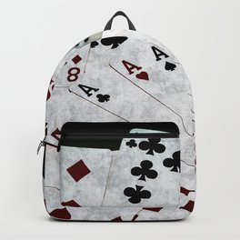Playing Cards Dices Good Luck Backpack