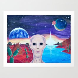 Life On Another Planet Art Print