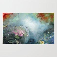 Spring paradise painting Rug