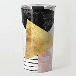 Elegant geometric marble and gold design Travel Mug