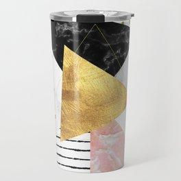 Elegant geometric marble and gold design Travel Mug