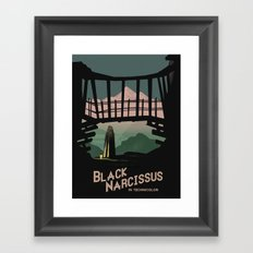 Black Narcissus Framed Art Print