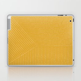 Lines / Yellow Laptop & iPad Skin