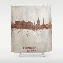 Edinburgh Scotland Rust Skyline Shower Curtain