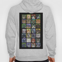 Cats and Dogs in Black Hoody