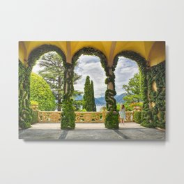 Lake View Through the Arches of a Villa Terrace Metal Print