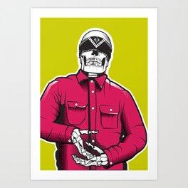 Vato Loco Skull Art Print