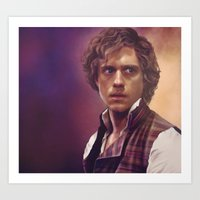 enjolras Art Prints featuring Enjolras by Julia Bland