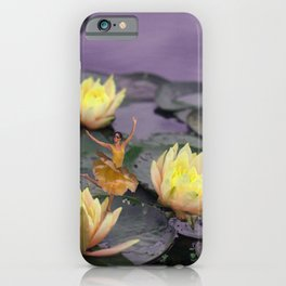 tinker bell & tiger lilies iPhone Case