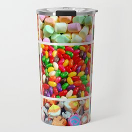 Colorful candy collage Travel Mug