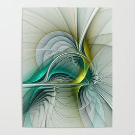 Fractal Evolution, Abstract Art Graphic Poster