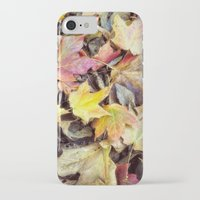 blanket iPhone & iPod Cases featuring autumn blanket by Bonnie Jakobsen-Martin