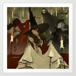 The Witches Ball Art Print