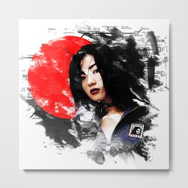 Japanese girl Metal Print
