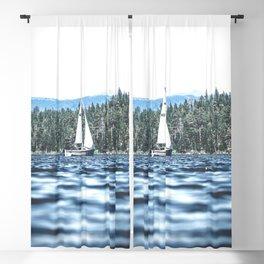 Calm Lake Sailboat Blackout Curtain