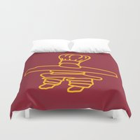 cook Duvet Covers featuring Inuksuk Cook by Maligne