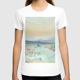 River In The Foothills 1889 By Lev Lagorio | Reproduction | Russian Romanticism Painter T-shirt